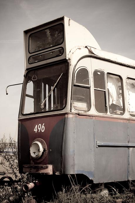 Urban Tram close up