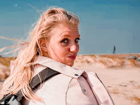 Melanie bij Ijmuiden Strand