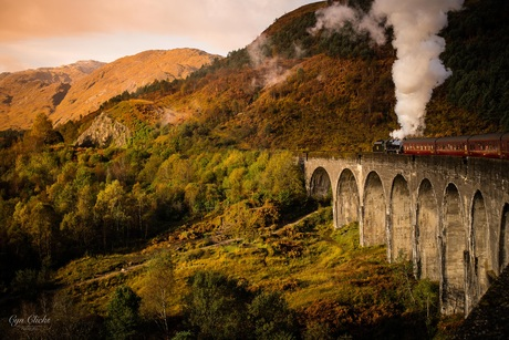 The Jacobite over Glenfinnan