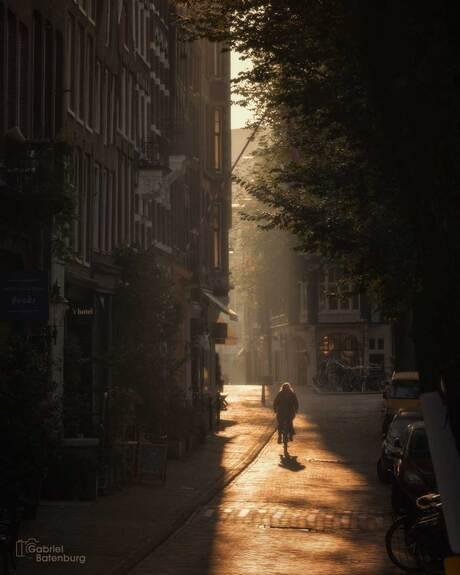 Zonsopkomst in Amsterdam,
