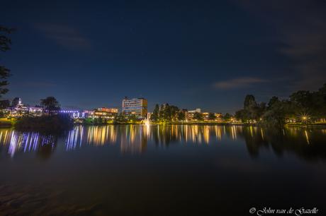 Skyline van Brunssum in de nacht