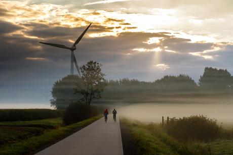 Verdwijnen in de mist