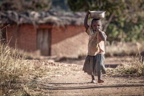fetching water