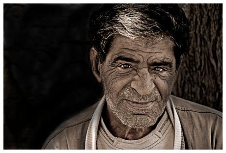 Oude vissersman in Lesbos