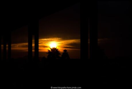 sunset on greece