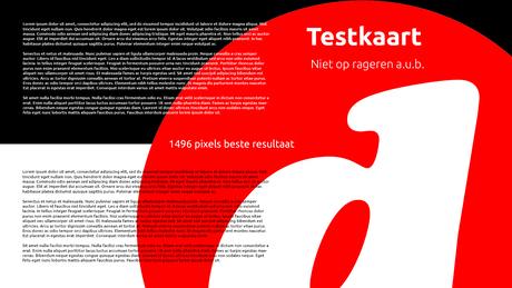 Testkaart 1496 pixels