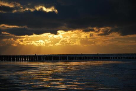 Herfst zonsondergang in Domburg