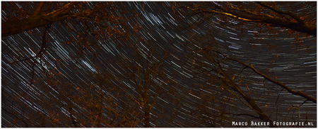 Sterrenspoor - Sterrenspoor van 30 min 100 foto's - foto door marco-7 op 31-12-2013 - deze foto bevat: nikon, sterrenspoor
