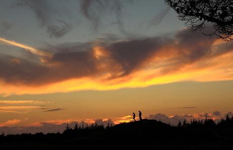 Zonsondergang kijken bij de Arjensduin
