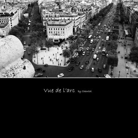 Vue de l'arc - We zijn nog steeds in Parijs, maar nu aan de andere kant van de Champs Elysées. Op de Arc de Triomphe dus...  Helaas heeft de nieuwe versie van Zoo - foto door Chantal_H op 04-06-2009 - deze foto bevat: uitzicht, parijs, paris, arc, triomphe, zwart-wit, Champs-Elysées