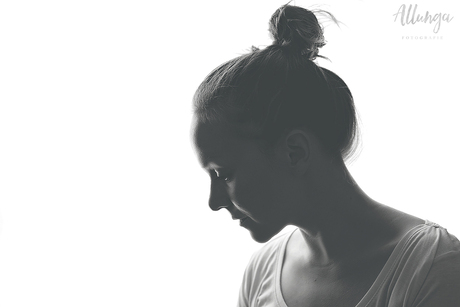 Zelfportret matte zwart/wit