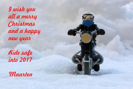 Seasons greetings - - - foto door kylstram op 22-12-2016 - deze foto bevat: kerst, nieuwjaar, motor