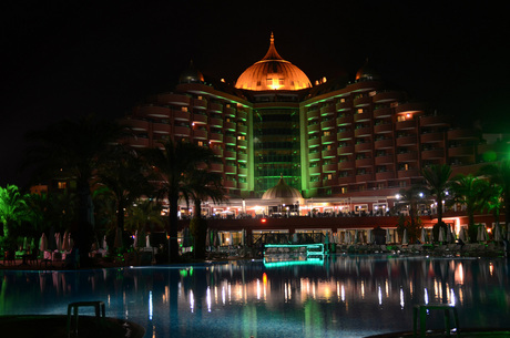 Delphin Palace by night