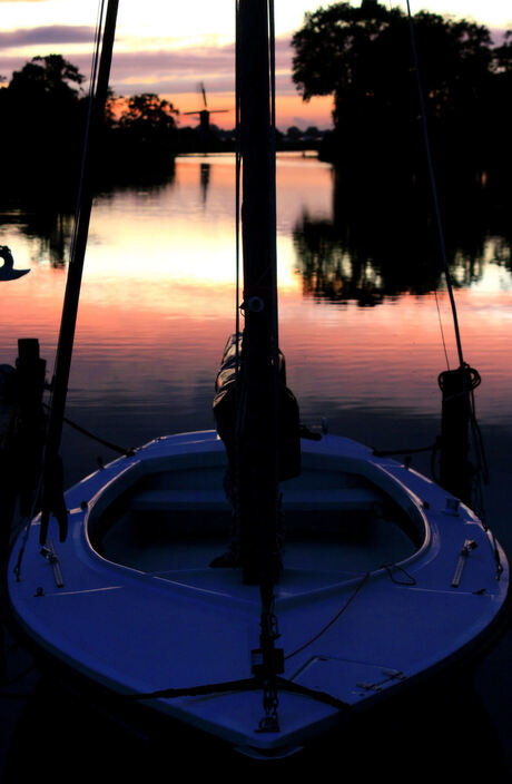 zonsondergang in de haven