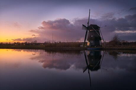 De Hommel and the sunset