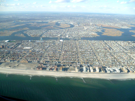 Long Island vanuit cockpit KLM