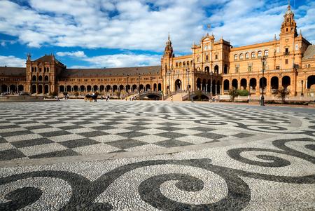 Plaza de Espana , sevilla - - - foto door karelwillemse op 27-10-2014 - deze foto bevat: architectuur, reizen, gebouw, stad, reisfotografie
