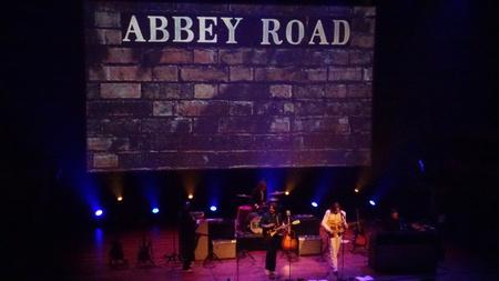 Bootleg Beatles II - Abbey Road; als je de ogen dicht doet is 't net echt! - foto door RobZuydervelt op 17-10-2020 - deze foto bevat: pop, gitaar, muziek, optreden, concert, band, muzikant, geluid, live, gitarist, concertfotografie, drummer, microfoon, podium
