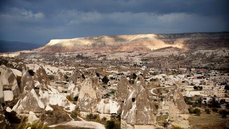 Cappadocië in de avond