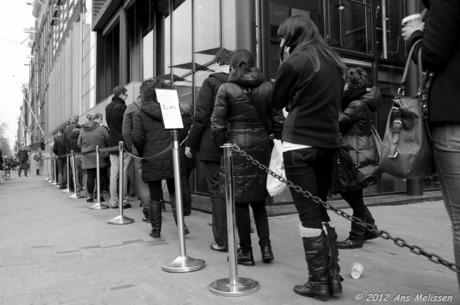 Wachten in de rij