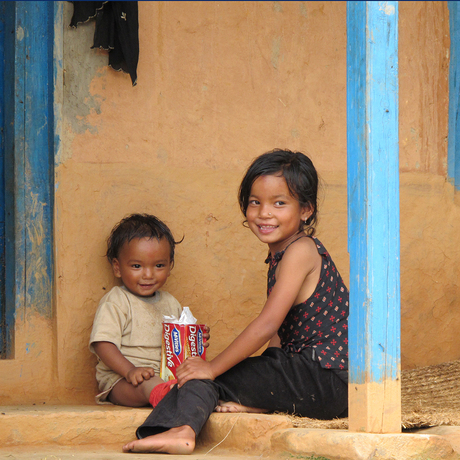 kindjes in Nepal