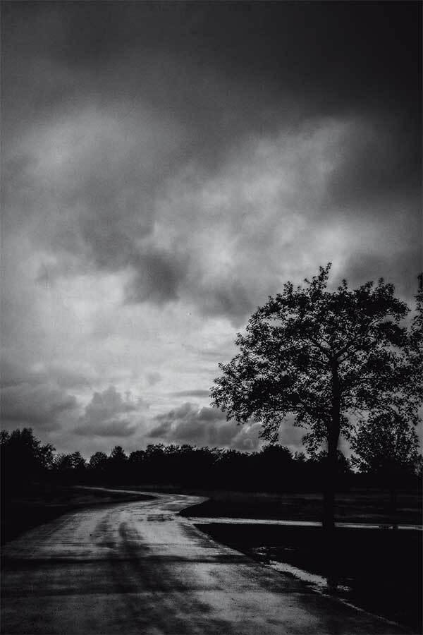 Mooie lucht_licht - Na mijn werk ben ik naar Het Twiske gegaan om de mooie licht proberen vast te leggen. Ik was werkelijke gehypnotiseerd daar door - foto door n.marin op 29-05-2013 - deze foto bevat: landschap, zwart wit, het twiske