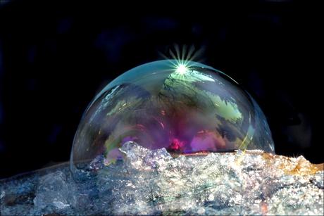 zeepbel op ijs...