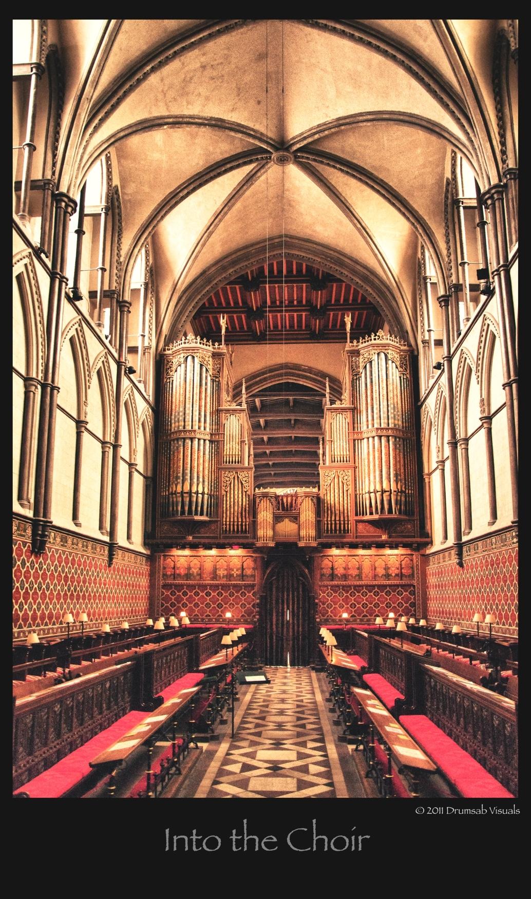 Into the Choir - HDR Rochester Cathedral Engeland - foto door drumsab op 27-08-2011 - deze foto bevat: kathedraal, koor, engeland, cathedral, choir, rochester, verenigd koninkrijk