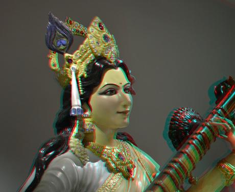 SARASWATI  Goddess of Music Wereldmuseum Rotterdam 3D