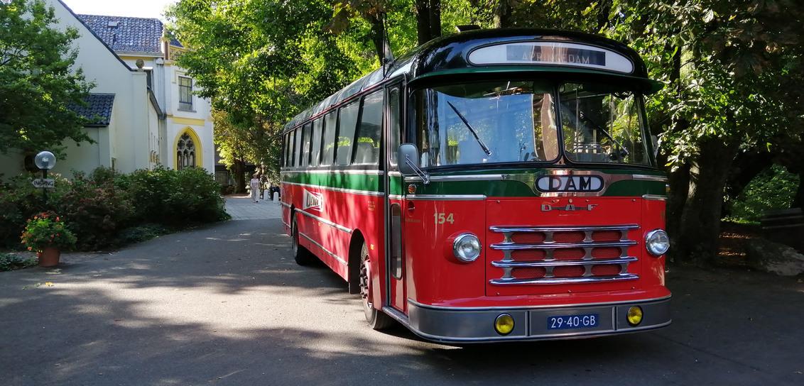 DAM bus - De N.V. Damster Auto-Maatschappij, afgekort DAM te Appingedam is opgericht in 1920. Het was een bedrijf dat van 1921 tot 1970 het openbaar vervoer pe - foto door johandekens op 09-12-2019 - deze foto bevat: oud, daf, nostalgie, vervoer, appingedam, bijzonder, hoogezand, rondrit, oude bussen, busmuseum, dam 154