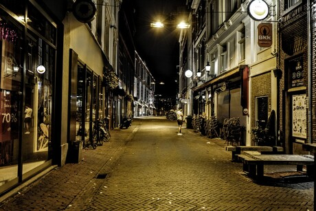 Verlaten straat Arnhem