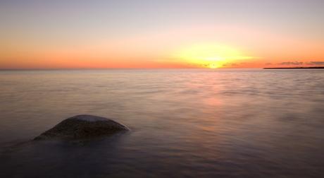 Zonsondergang aan het IJselmeer