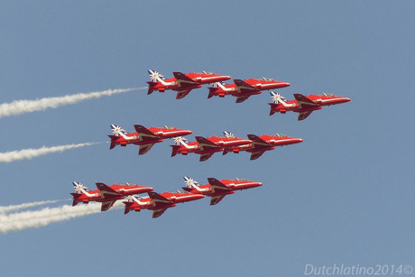 Red Arrows Luchtmachtdagen 2014 Gilze Rijen