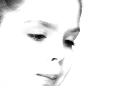 Mijn schoonheid - Weer even een shootje met dochter lief gemaakt. Ze is en blijft voor mij een topmodelletje! - foto door jackyduck op 06-02-2013 - deze foto bevat: mensen, kind, zwart-wit