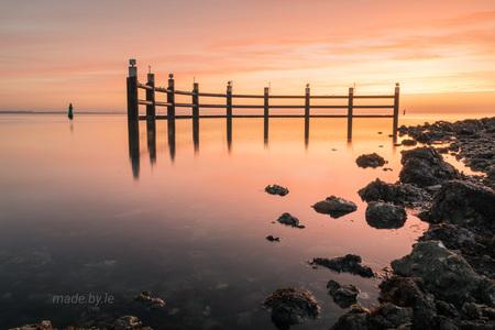 Yerseke - - - foto door Leonie-72 op 26-02-2021 - deze foto bevat: zon, water, landschap, zonsopkomst, lange sluitertijd