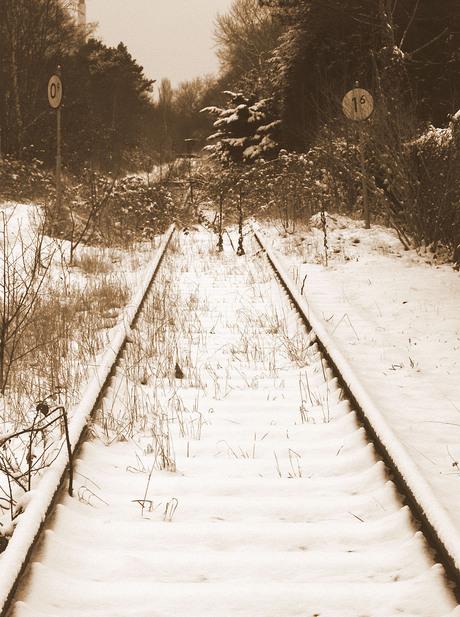 ongebruikte spoorbaan
