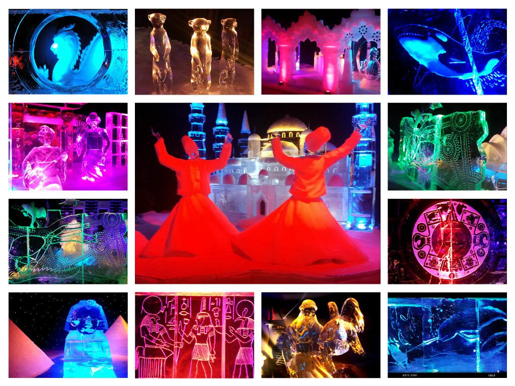 Collage Ijsbeelde - Collage van de ijsbeelden in Zwolle. - foto door FemmieKoekoek op 19-01-2016