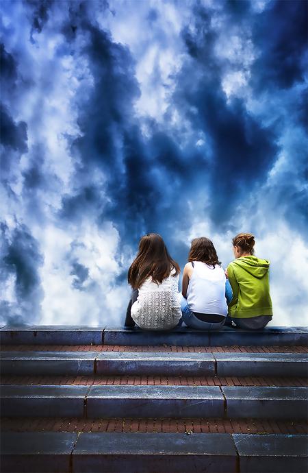 Onweer.... - - - foto door Phil-H op 11-07-2020 - deze foto bevat: abstract, photoshop, manipulatie, bewerkingsuitdaging