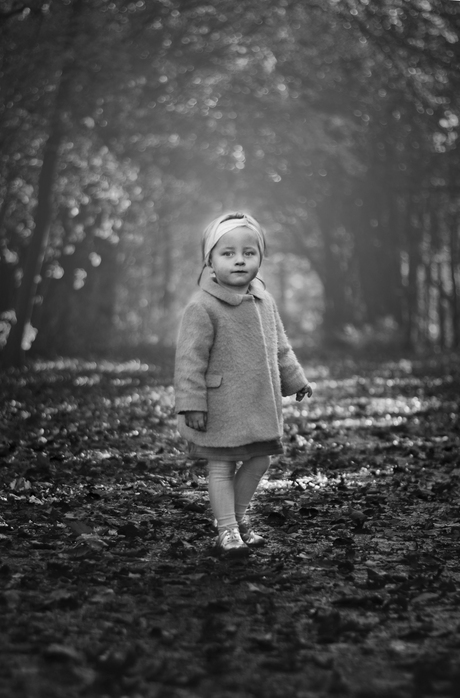 Little girl in a big world