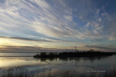 Zonsondergang Lauwersmeer 31 jan 2021