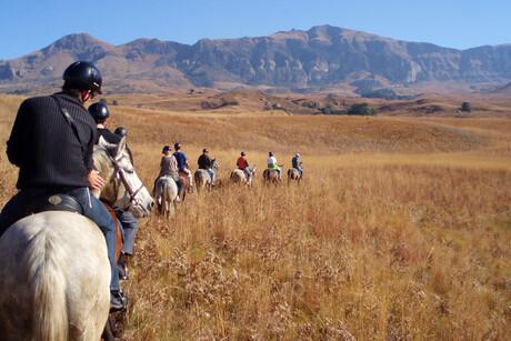 Te paard door Drakensbergen 2