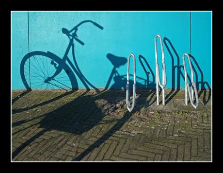 Fiets en fietsenrek....
