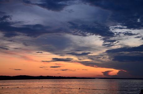 Zonsondergang, Istrië