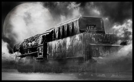 the Nightrain - beetje aan het stoeien geweest in CS5, 3 foto's gebruikt van mezelf. En deze tot dit resultaat samengebracht.  gr Erik - foto door erik wieringh op 08-10-2011 - deze foto bevat: oud, urban, verval, urbex, exploration, decay, erik wieringh