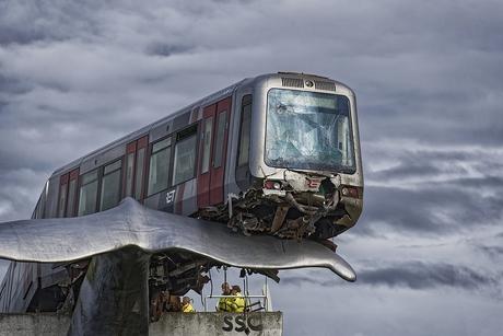 gestrande metro.