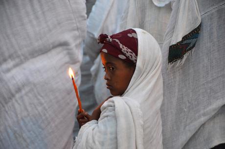 Processie in Akkrum -Ethiopië