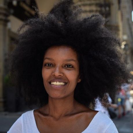 Beautiful woman in Florence
