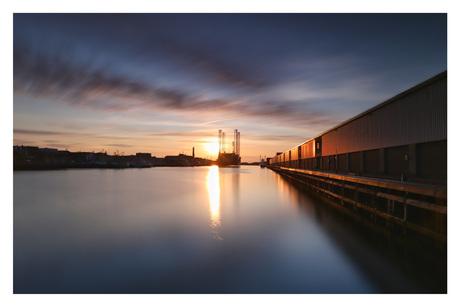 Haven van IJmuiden bij long exposure