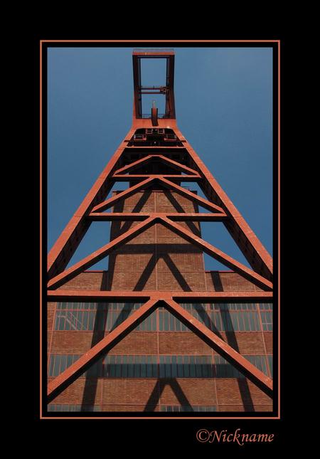 Essen 10 - - - foto door Nickname op 25-10-2008 - deze foto bevat: lucht, gebouw, mijn, mijnschacht