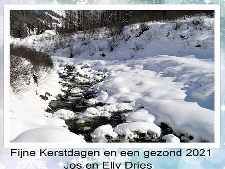 collage kerstgroet uit ZWISS Blatten Lotschentall feb 2005